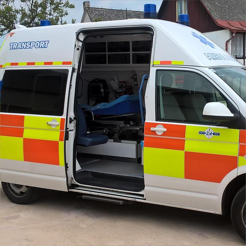Vybavení transportní sanity